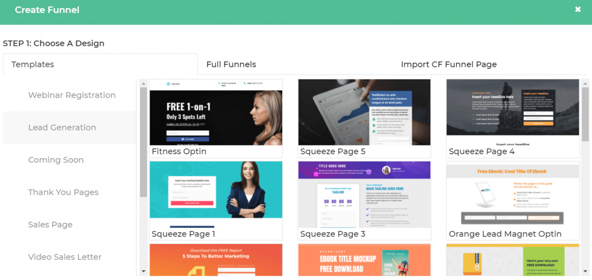 Templates for Dropfunnels.